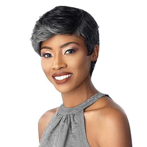 JEAN | Empire Salt & Pepper Human Hair Wig - Hair to Beauty | Color Shown: H280/44