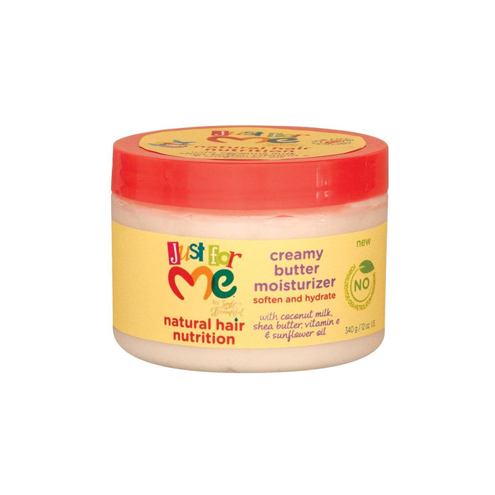 JUST FOR ME | NATURAL CREAMY BUTTER MOISTURIZER JAR (12OZ) - Hair to Beauty