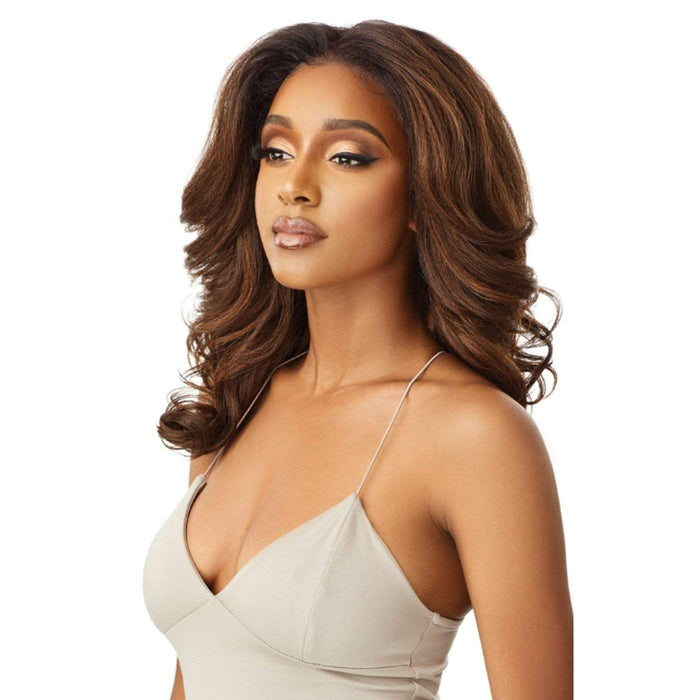 JULIANNE | Perfect Hairline Synthetic 13x6 Lace Front Wig - Hair to Beauty | Color Shown : DR2/Chocolate Swirl