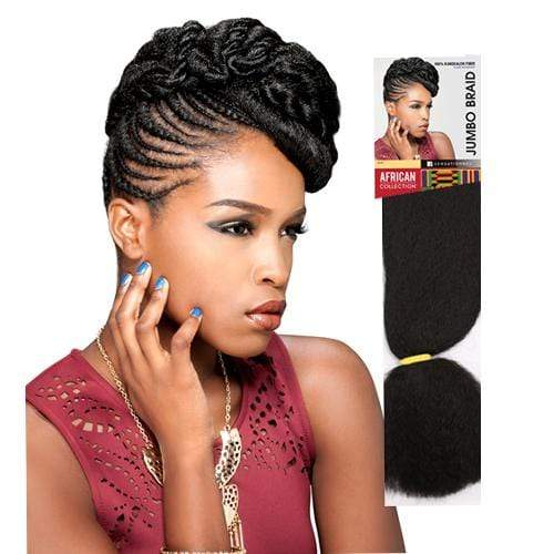 JUMBO BRAID | Sensationnel African Collection Kanekalon Braid - Hair to Beauty | Color Shown: