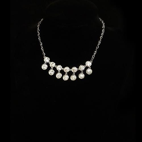 N0070 | Silver Princess Necklace with Gems.