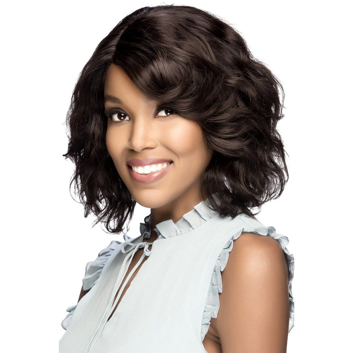 KACEY | Vivica A. Fox Brazilian Human Hair Swiss Lace Front Wig - Hair to Beauty | Color Shown: NATURAL