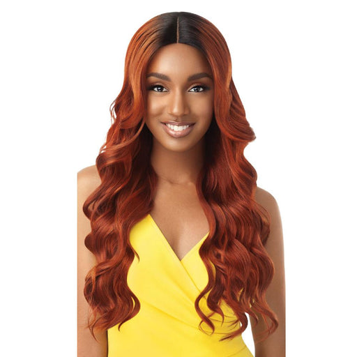 KAMALA | The Daily Synthetic Lace Part Wig - Hair to Beauty | Color Shown: DR COPPER ORANGE