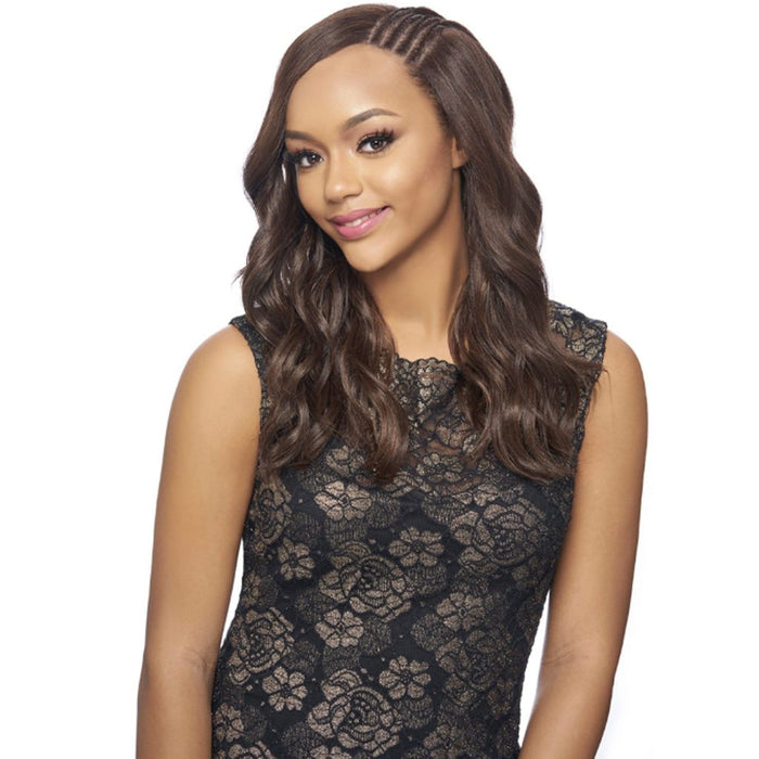 KBW03 | Harlem125 Kima Side Braid Lace Wig - Hair to Beauty | Harlem125 Color Shown : 1B