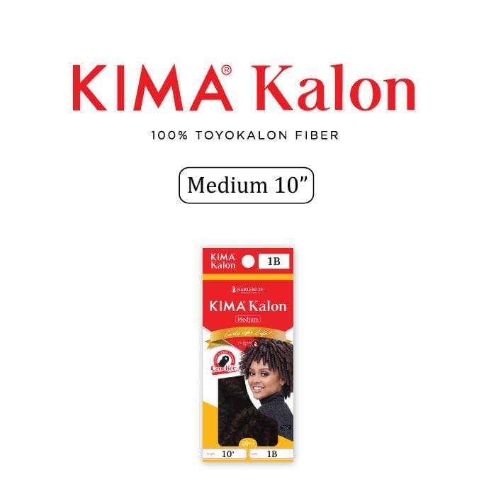KKM10L | Harlem125 Kimakalon Medium 10 Inch Synthetic Braid - Hair to Beauty | Harlem125 Color Shown : T1B/30