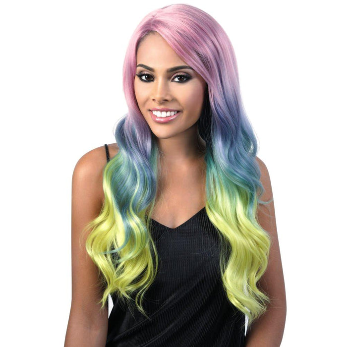 L.ANGELIC | Motown Tress Let's Lace Synthetic Swiss Lace Front Wig - Hair to Beauty | Color Shown: AURORA