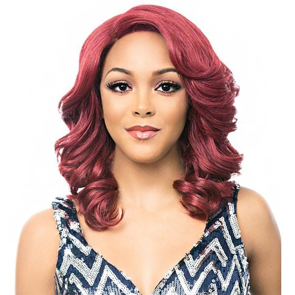 LACE JODI | It's a Wig! Synthetic Lace Front Wig - Hair to Beauty | Color Shown: SUNSET RED