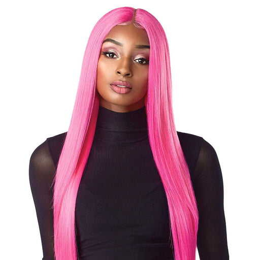 LACHAN | Sensationnel Empress Shear Muse Lace Center Part Synthetic Wig - Hair to Beauty | Color Shown: NEONPINK