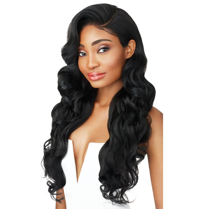 LANA | Outre Synthetic Perfect Hair Line 13x6 Lace Front Wig - Hair to Beauty | Color Shown: 1B
