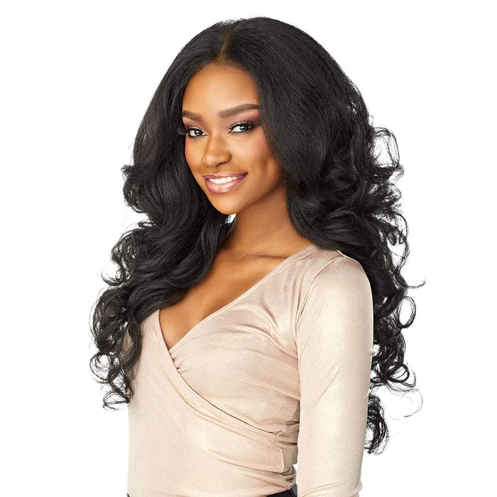LATISHA | Cloud9 What Lace? 13X6 Swiss Lace Frontal Wig - Hair to Beauty | Color Shown: 1B