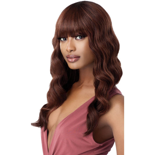 LAVERNE | Outre Wigpop Synthetic Full Cap Wig -Hair to Beauty | Color Shown : DR2/AUBURN
