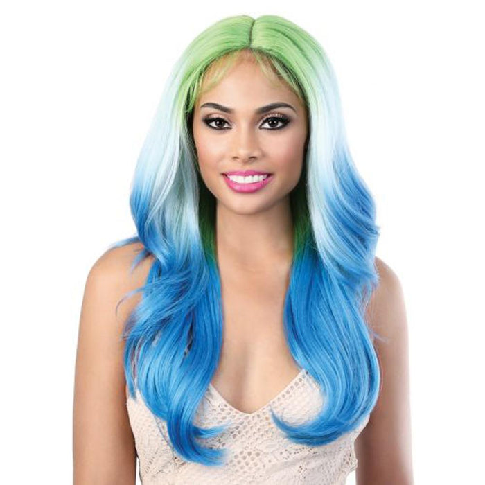 LDP- JAZZ24 | Motown Tress Let's Lace Deep Spin Part Long Wavy Wig - Hair to Beauty | Color Shown: GREENJAZZ