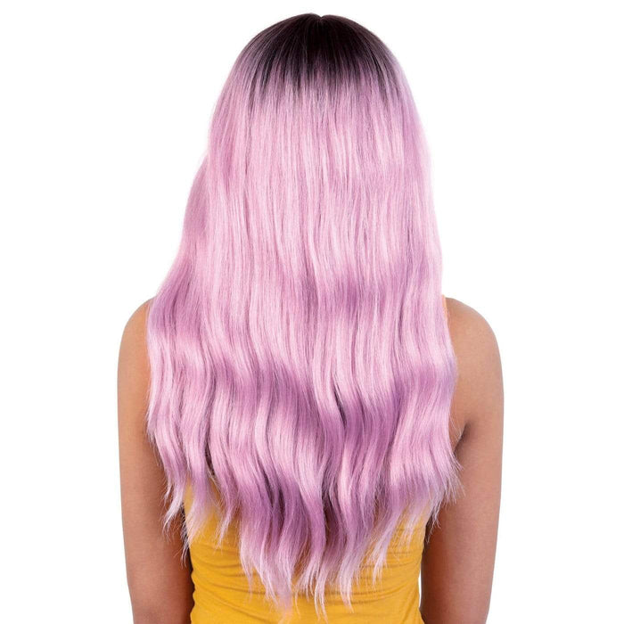 LDP-KIM | Motown Tress Let's Lace Deep Part Swiss Lace Front Wig - Hair to Beauty | Color Shown: RT4/FRENCHPINK