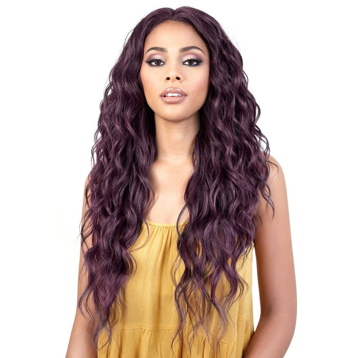 LDP-PEGGY | Motown Tress Let's Lace Synthetic Deep Part Swiss Lace Front Wig - Hair to Beauty | Color Shown: FSBRROWNPINK