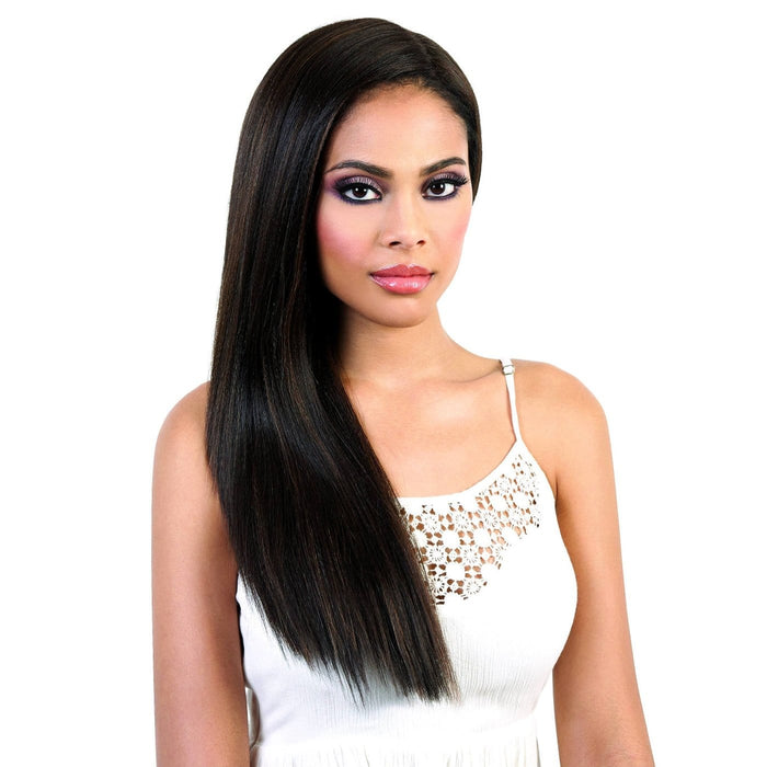 LDP-SPIN61 | Motown Tress Let's Lace Synthetic Deep Spin Part Lace Front Wig - Hair to Beauty | Color Shown: F4/30