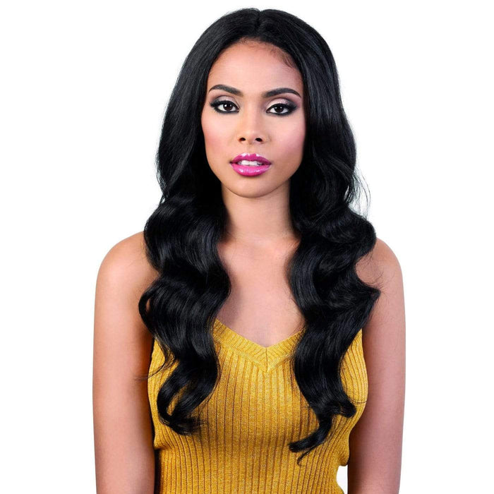 LDP-SPIN62 | Motown Tress Let's Lace Synthetic Deep Spin Part Lace Front Wig - Hair to Beauty | Color Shown: 1B