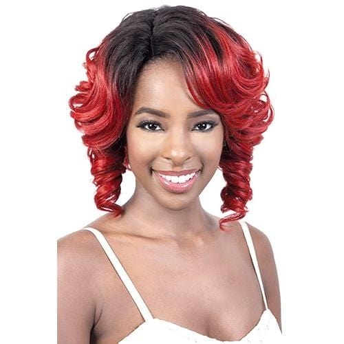 LDP-SWEET | Motown Tress Synthetic Deep Part Lace Wig - Hair to Beauty | Color Shown: RT1B/RED