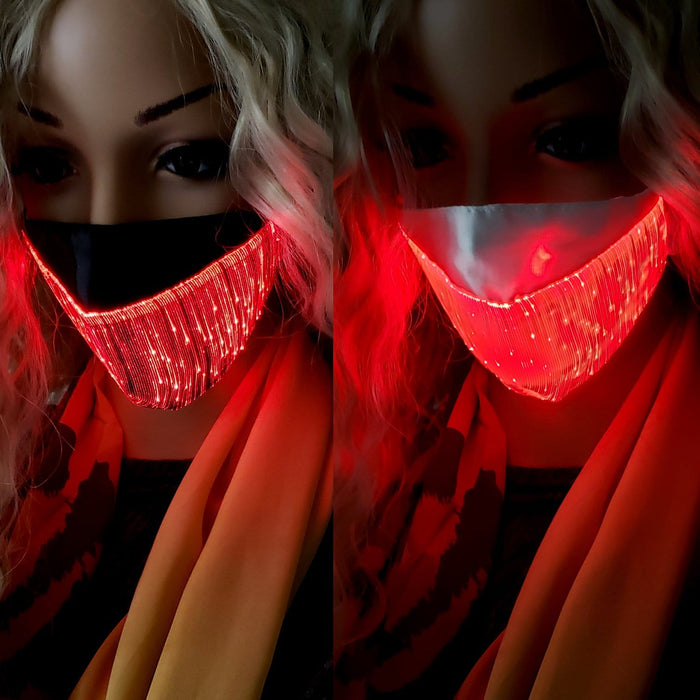 BE U | LED Light Up Face Mask with Silk Layer - Hair to Beauty