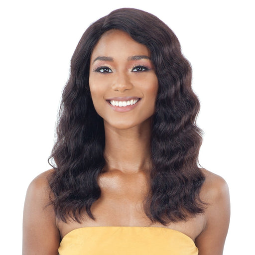 LENNIE | Unprocessed Brazilian Natural Human Hair Lace Front Wig - Hair to Beauty | Color Shown: NATURAL