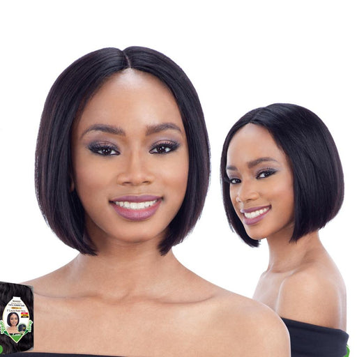 LEONI | Unprocessed Human Hair Lace Part Wig - Hair to Beauty | Color Shown : NATURAL