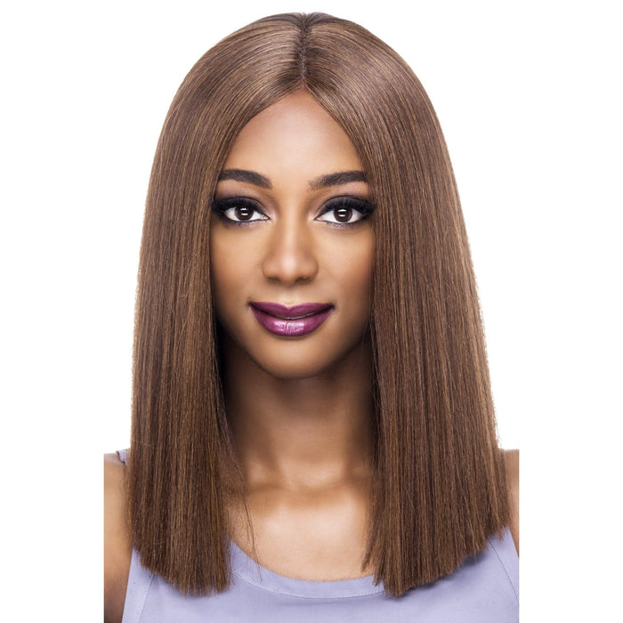 LILLY | Synthetic Natural Baby Hair Invisible Part Swiss Lace Front Wig.