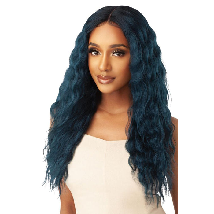 LORELEI | Synthetic Swiss Lace Front Wig - Hair to Beauty | Color Shown: DR JADE BLUE