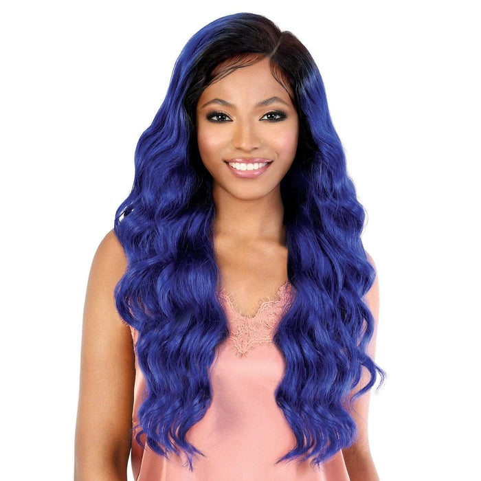 LS137 AUDI - Motown Tress HD Invisible 13X7 Synthetic Lace Front Wig - Hair to Beauty | Color Shown :  OTCOBLTBL