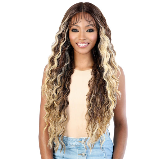 LS137 SAMI - Motown Tress HD Invisible 13X7 Synthetic Lace Front Wig - Hair to Beauty | Color Shown : OFH4/BLND