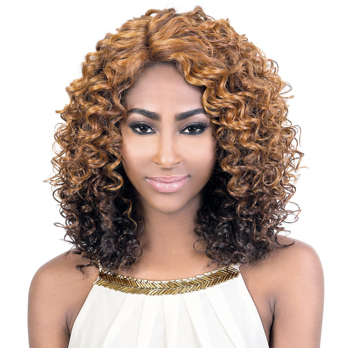 LXP. KAY | Motown Tress Let's Lace Synthetic Extra Deep Part Lace Front Wig - Hair to Beauty | Color Shown: DX27/33
