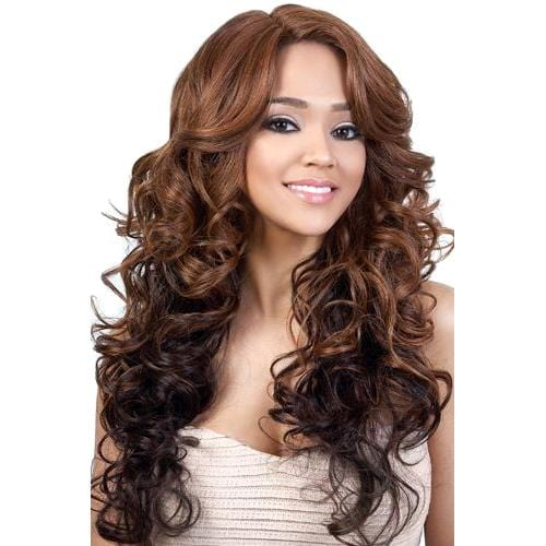 LXP. EDIE | Motown Tress Let's Lace Synthetic Extra Deep Part Lace Front Wig - Hair to Beauty | Color Shown: DX30/4