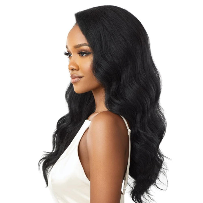 LYNDI | Quick Weave Synthetic Half Wig - Hair to Beauty | Color Shown: 1B