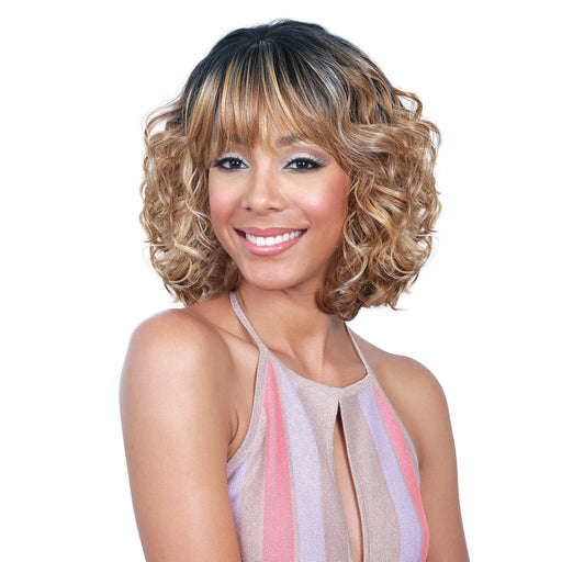 M700 HONEY | Bobbi Boss Synthetic Wig - Hair to Beauty | Color Shown: TT1B/DX2216