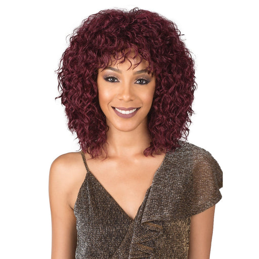 M799 CUPCAKE | Bobbi Boss Synthetic Wig - Hair to Beauty | Color Shown: R/PLUM