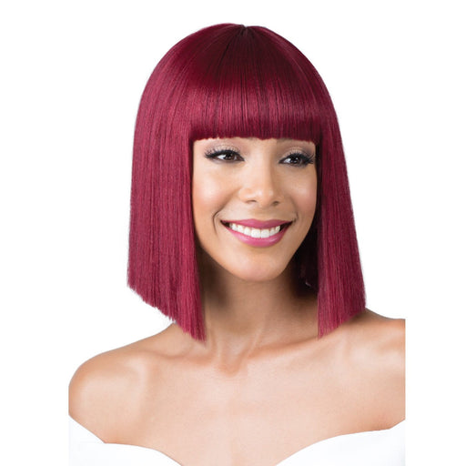 M984 REGINAE | Bobbi Boss Synthetic Wig - Hair to Beauty | Color Shown: BURGUNDY