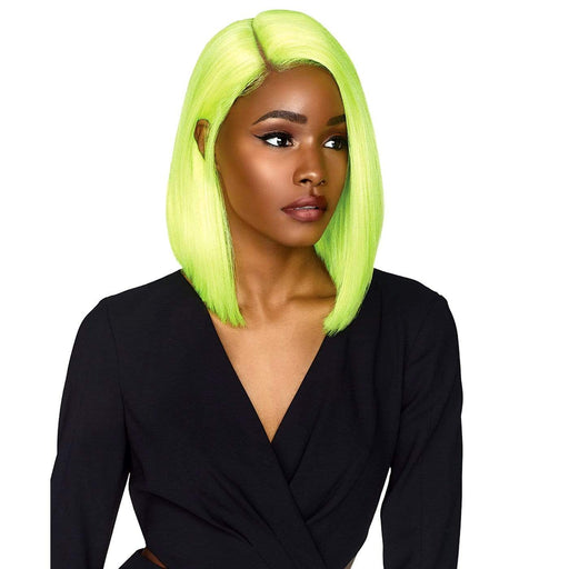 MAKAYLA | Sensationnel Empress Shear Muse Lace Center Part Synthetic Wig - Hair to Beauty | Color Shown: NEONLIME