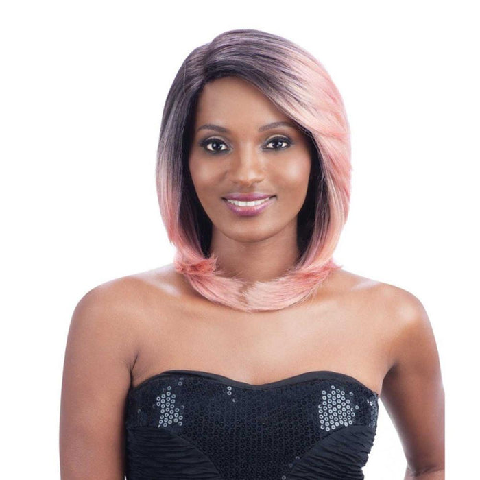 MALIYAH | Premium Seven Star Synthetic Lace Front Wig - Hair to Beauty | Color Shown: ROSEGOLD