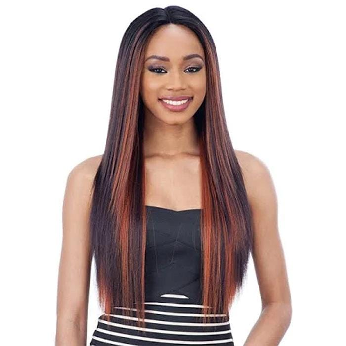 MATTIE l FreeTress Synthetic 6 Inch Lace Part Wig - Hair to Beauty l Color Shown: FF99J130