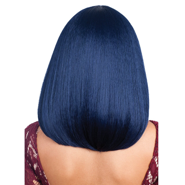 MBLF-90 JUBA | Bobbi Boss Human Hair Blend Lace Front Wig - Hair to Beauty | Color Shown: INVBLUE