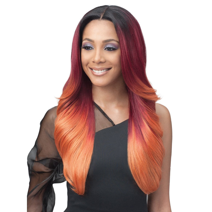 MBLF-001 ALIVIA | Human Hair Glueless Blend Lace Front Wig.