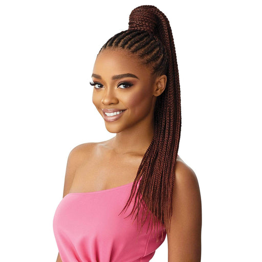 MEDIUM BOX BRAID 26″ | Pretty Quick Wrap Synthetic Ponytail - Hair to Beauty | Color Shown : 2T1/350