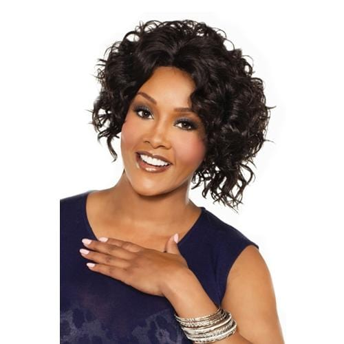 MEGAN | Vivica A. Fox Synthetic Natural Baby Hair Full Lace Front Wig - Hair to Beauty | Color Shown: 1B