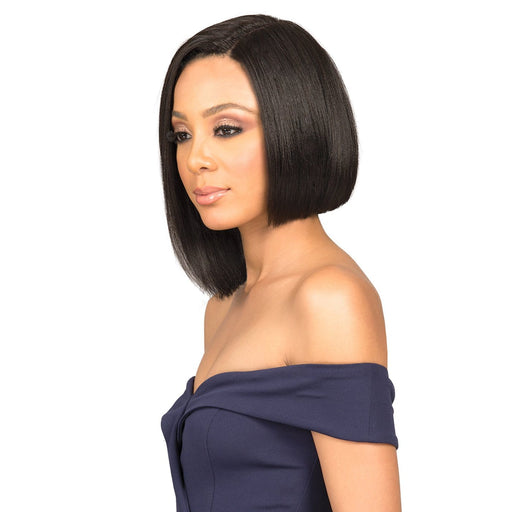 MHLF-401 HH NADINE | Bobbi Boss Human Hair Deep Part Lace Front Wig - Hair to Beauty | Color Shown: 1