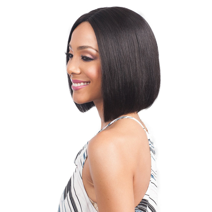 MHLF-800 EMA | Bobbi Boss Human Hair Deep Part Lace Front Wig - Hair to Beauty | Color Shown: 1B