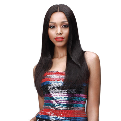 MHLF308 EUDORA | Bobbi Boss Unprocessed Virgin Remi Lace Front Wig - Hair to Beauty | Color Shown : NATURAL