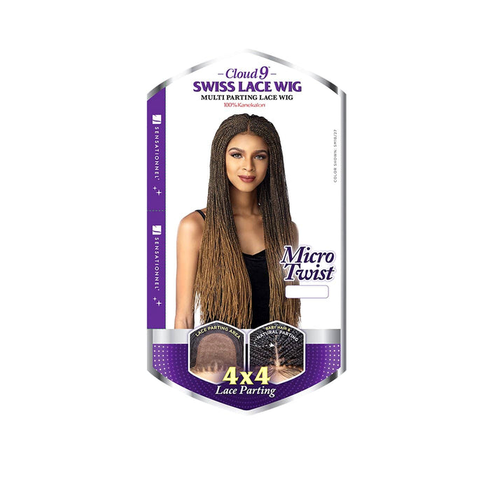 MICRO TWIST | Sensationnel Cloud 9 4X4 Swiss Lace Parting Synthetic Lace Front Wig - Hair to Beauty | Color Shown: SM1B/27