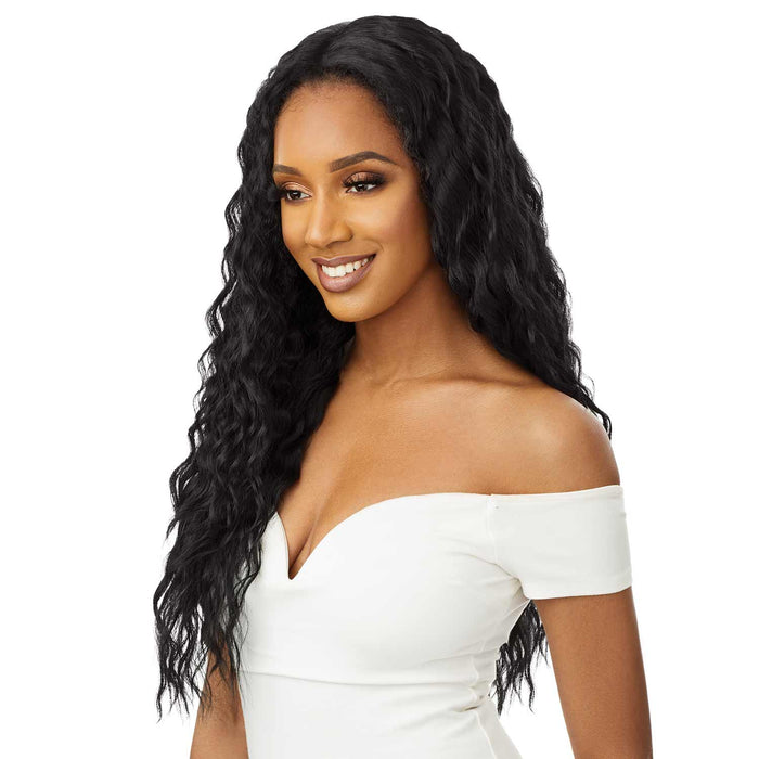 MILA - Outre Quick Weave Synthetic Half Wig - Hair to Beauty | Color Shown : 1B