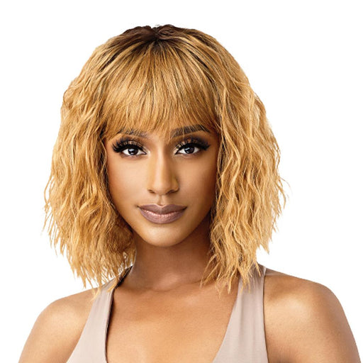 MILEENA | Quick Weave Complete Cap Synthetic Wig - Hair to Beauty | Color Shown: DR27