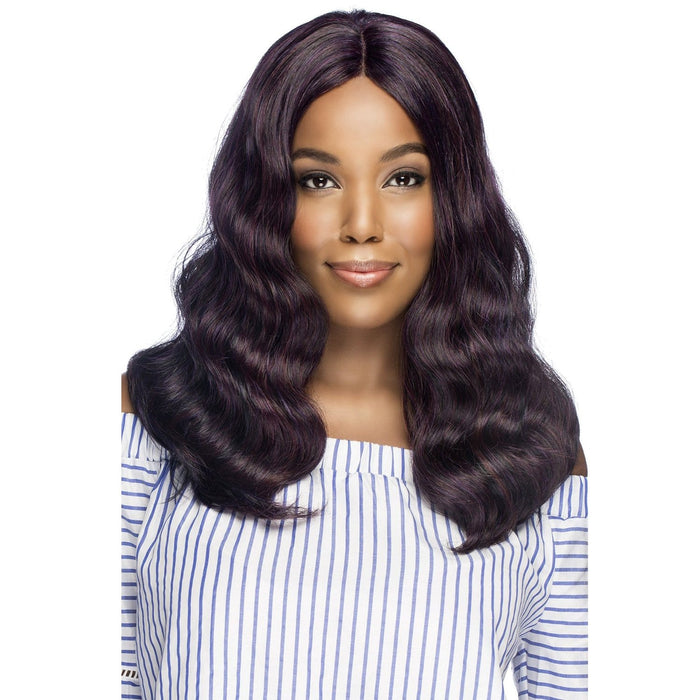 MIRIAM | Vivica A. Fox Synthetic Natural Baby Hair Invisible Part Swiss Lace Front Wig - Hair to Beauty | Color Shown: M1PB