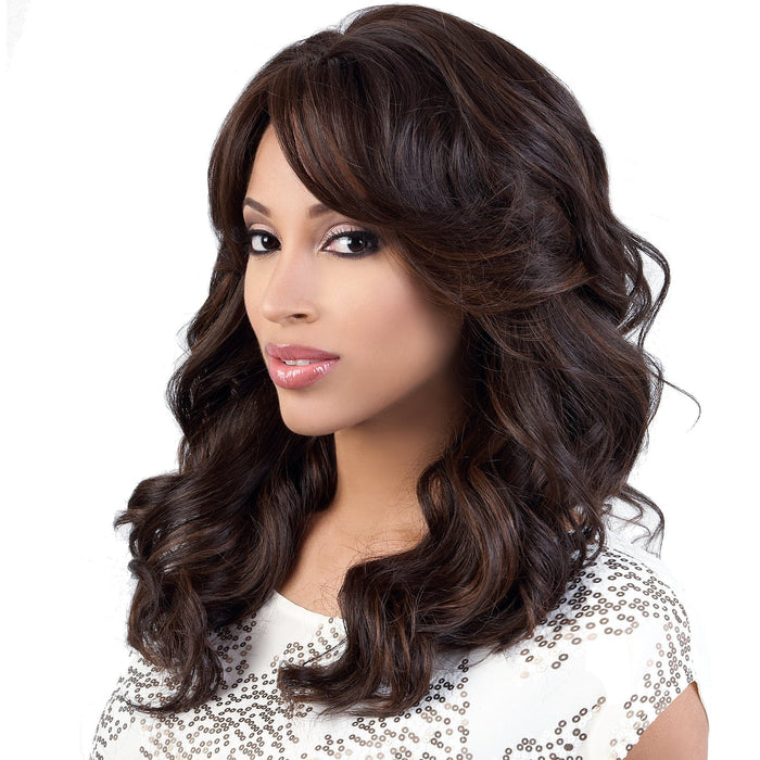 MISTY | Motown Tress Synthetic Wig - Hair to Beauty | Color Shown: F4/30