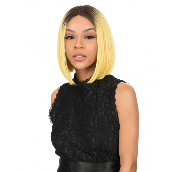 MLI312 | Magic Synthetic Lace Front Wig - Hair to Beauty | Color Shown : DYX/YELLOW